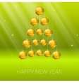 Christmas tree made from yellow balls vector image vector image