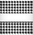 Classic houndstooth pattern vector image vector image