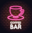 coffee bar neon lights vector image