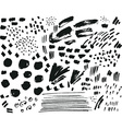 collection black ink brush points spatters vector image