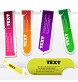 colorful paper bookmarks set vector image vector image