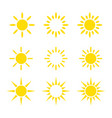 creative yellow sun icon design collections vector image vector image