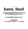 decorative valentines display font vector image vector image