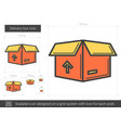 delivery box line icon vector image vector image