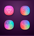 diagrams app icons set data graphic visualization vector image vector image