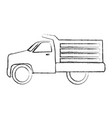 drump truck isolated icon vector image
