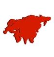 Eurasia Continent Bulk vector image vector image