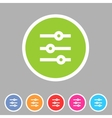 Filter sort settings icon flat web sign symbol vector image