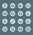 Flat style various financial banking icons set