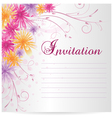 flower invitation vector image vector image