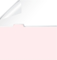 folder with rolled corner paper vector image vector image