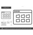 Folders line icon vector image vector image