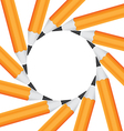 frame office pencils in a circle isolated on vector image