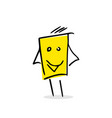 free hand drawing of a happy box vector image vector image
