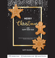 gingerbread cookies and text on dark banner vector image vector image
