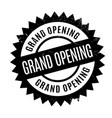 grand opening rubber stamp vector image vector image