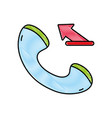 grated phone call submitted sign telephone icon vector image