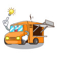 have an idea character food truck with awning vector image