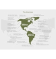 infographics continent America green and gray vector image vector image