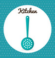 kitchen frieds spoon icon vector image