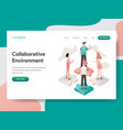 landing page template collaborative vector image
