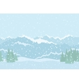 Landscape mountains seamless vector image vector image