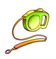 leash accessory for domestic dog monochrome vector image