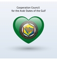Love Arab States of the Gulf symbol vector image vector image