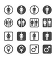 man and woman icon set vector image vector image