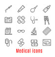 medical thin line icon for medicine and healthcare vector image vector image