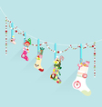 Merry Christmas decoration sock vector image