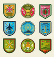 military patches set army forces emblems vector image