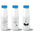 Milk smailing bottle set 007 vector image vector image