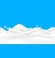 milk wave background seamless liquid yoghurt flow vector image vector image