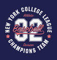 new york baseball typography for number t-shirt vector image vector image
