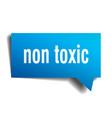 non toxic blue 3d speech bubble vector image vector image