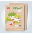 Organic shop template vector image vector image