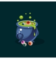 pot green potion and eyes vector image