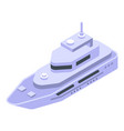 powerboat icon isometric style vector image vector image