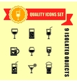 quality glasses icon set vector image
