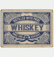 retro label with cracked style vector image vector image