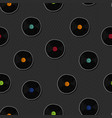 retro vinyl music cartoon seamless pattern vector image vector image
