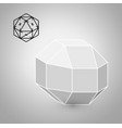 rhombicuboctahedron is a geometric figure hipster vector image vector image