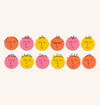 round cartoon faces with different emotions vector image
