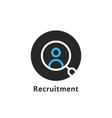 round simple recruitment logo vector image vector image
