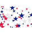 seamless pattern with blue red white stars vector image vector image