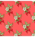 Seamless pattern with Christmas decoration vector image vector image