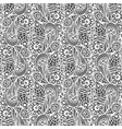 seamless white pattern on black background vector image vector image