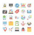 seo and digital marketing colored icons 1 vector image vector image