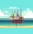 shelf oil platform cross section cartoon vector image